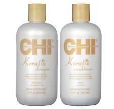 Farouk Chi Keratin Shampoo + Conditioner Hair Repair Treatment Argan Oil 2x355ml