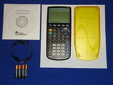 Refurbished TI-83 Plus Graphic Calculator Yellow Slide Cover Texas Instruments