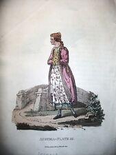 POLONIA,COSTUMI, acciaio originale meta' XIX secolo,POLISH JEWESSE