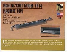 MARLIN / COLT MODEL 1914 MACHINE GUN .30-06 Classic Firearms Gun PHOTO CARD