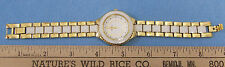Jewelry Style & Co Wrist Watch Goldtone Enamel Inlay Second Hand Minute Markings
