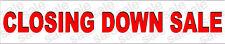 Closing Down Sale 1800mm x 350mm Vinyl Banner