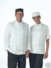 Denny's blanco o negro Chef Chaqueta s/Acero Tachuela XS-2 X