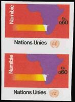 UN Geneva #34 Nambia. Map. Imperf Pair. Mint VF NH Very rare! 25 Pairs exist!