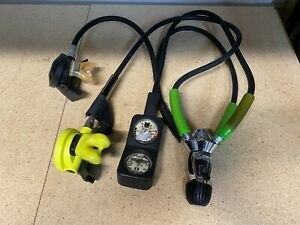 US Divers Aqua Lung Scuba Gear Regulator Console Hoses Octopus C05