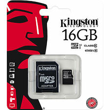 Kingston 16GB Micro SD SDHC MicroSD TF Class 10 16G 16 GB Advanced Memory Card
