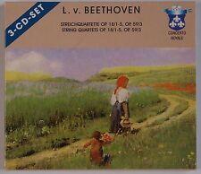 BEETHOVEN: String Quartets Nos. 1-5, Concerto Royale Germany SET CD