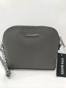 New STEVE MADDEN Women's BMAGGIE CROSSBODY GRAY Handbag Purse  DT571120