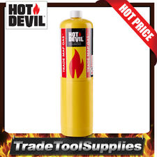 Hot Devil Gas Bottle Cylinder Trade Map 14.1oz/400g Oxy Blow Torch HDTRD