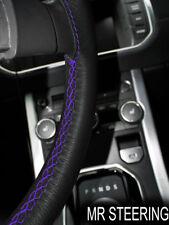 Para Toyota Tacoma MK2 05-11 Cubierta del Volante Cuero Verdadero púrpura STCH doble