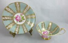 PARAGON England FOOTED TEA CUP & SAUCER with PINK ROSES