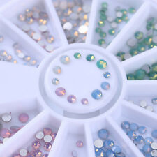 300pcs Opal Rhinestone Flat Bottom Multi-size 3D Nail Art Decorations Nails Tips