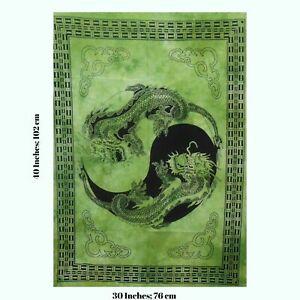 Indian Mandala Dragon Yin Yang Tapestry Wall Hanging Hippie Boho Poster Art New