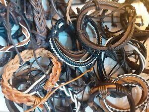 3 Pack Of Randomly Selected Braided Leather Friendship Bracelets