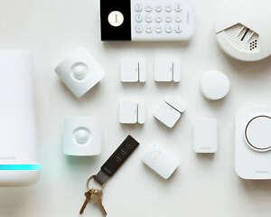 Black SimpliSafe Wireless Home Security Kit with Alexa and Google - 15 Piece