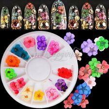 60pcs Nail Art Design Real Dried Flower Sticker Acrylic UV 3D Decoration