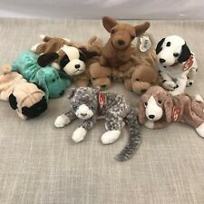 f91fd24e171 Ty Beanie Babies Dogs And Cat LOT Of 9 Plush