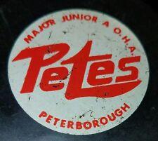 1970s Oha Peterborough Petes Viceroy Game Puck - Cmjhl vintage church league