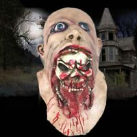 2018 Bloody Zombie Mask Melting Face Latex Costume Walking Dead Halloween Scary