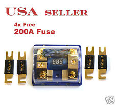 Digital Display ANL Dual Fuse Holder Gold Plated 0 Gauge 4Free Fuse 200A FH060G