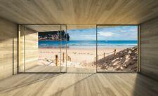 Vlies Fototapete 3D EFFEKT Terrasse Meer Fenster Nordsee Strand XXL Wohnzimmer