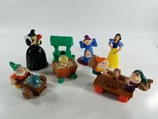 VINTAGE 1992 MCDONALD'S HAPPY MEAL TOYS SNOW WHITE SET OF 7 OPENED