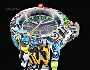 Invicta Men's 50mm Graffiti Swiss Quartz Date Black & Green Dial Graffiti Watch