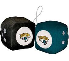 Jacksonville Jaguars Fuzzy Dice NFL Football Team Logo Plush Car Truck Auto