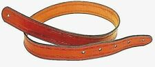 CUSTOM HANDMADE LEATHER GUITAR STRAP/ BARBWIRE DESIGN BY AMERICAN HANDCRAFTED LE