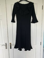 Moschino Cheap And Chic Black Frill Detail Dress UK Size 8 See Description