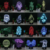 Star Wars Death Star 3D Acrylic LED 7 Color Night Light Touch Table Desk Lamp