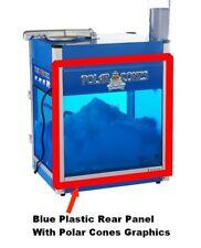 Rear Blue Plastic Replacement Plexi Panel For Polar Cones Snow Cone Machine