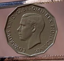 More details for edward viii threepence uniface resin casts of original ultra rare coin. 6 known.