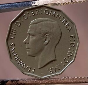 Edward VIII Threepence Uniface Resin Casts of Original ULTRA RARE coin. 6 known.