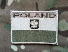 Polish army flag POLAND with eagle  camo patch  80x55 mm