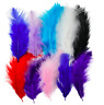 70 x Fluffy Marabou Feathers Card Making Crafts Embellishments Trimming 12-15cm