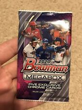 2020 BOWMAN MEGA BOX CHROME MOJO 5 CARD PACK! FACTORY SEALED.. Dominguez..Witt?