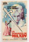 Cine Programa de Mano La Venganza de Milady con Gerard Barry (DM-899)