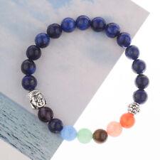 7 Chakra Fashion Colorful Charged Energy Boho Buddha Head Women Yoga Bracelets