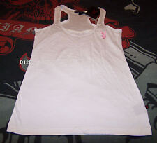 Playboy Ladies White Embroidered Racer Sleeveless Singlet Top Size 6 New
