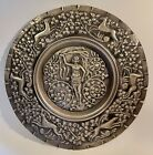 Silver plated copper wall charger repulse plaque female nude Deco