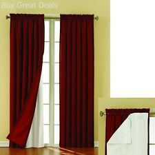 Blackout Panel Pair White Curtain Liners 54x 60in Noise Reducing