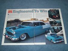 "1955 Chevy Bel Air Sedan Vintage Pro Street Article ""Engineered to Win"""