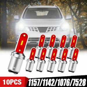 10X White S25 1157 Bay15d 1860 SMD LED Parking Tail Brake Stop Backup Light Bulb