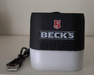 Becks Bier Flaschenöffner Wandhalterung Metall Neu Kapsel Heber Opener Bar OVP