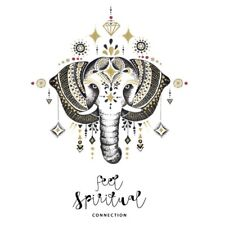 Mandala Elephant Animal Wall Decals Indian PVC Vinyl Decal Sticker Boho Decor