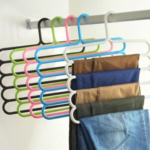 New Multi-Function Plastic Five-Layer Drying Rack Pants Rack Storage Tie Rack