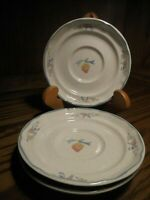 Lot (3) International China Stoneware - Marmalade Strawberry Goose - Saucers  73