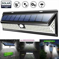 118 LED Solar Powered PIR Motion Sensor Wall Security Light Lamp Garden Outdoor