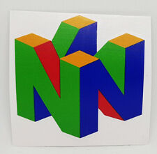 Nintendo 64 N64 Logo Sticker Vinyl Decal Printed - NO Video Game or Console